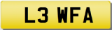 LEWIS FA Private Registration Cherished Number Plate LEW LEWIE LOUIE LOUIS